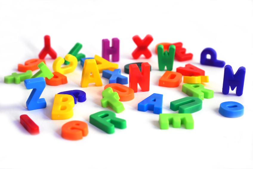 buntes Buchstaben Alphabet